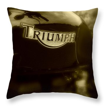Classic Old Triumph Throw Pillow by Perry Webster