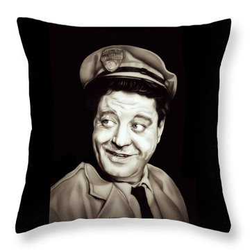 Classic Ralph Kramden Throw Pillow by Fred Larucci