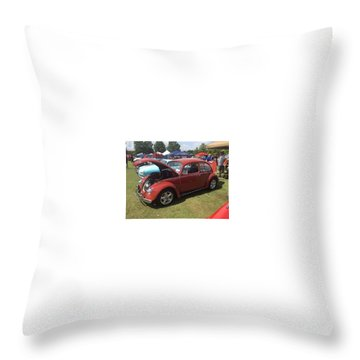 Throw Pillow featuring the photograph Classic Red Bug by Aaron Martens