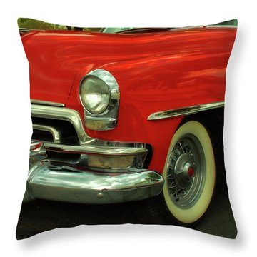 Classic Red Chrysler Throw Pillow