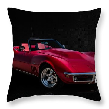 Classic Red Corvette Throw Pillow