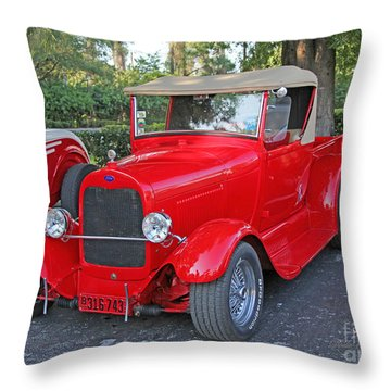 Classic Red Ford Truck Throw Pillow