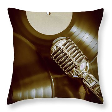 Classic Rock N Roll Throw Pillow