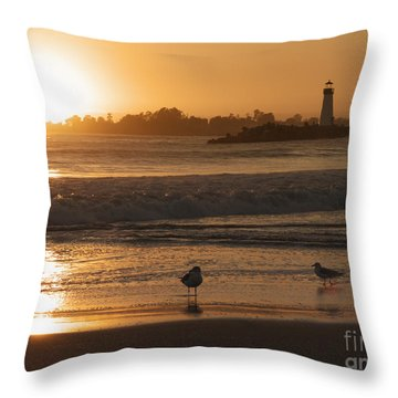 Classic Santa Cruz Sunset Throw Pillow