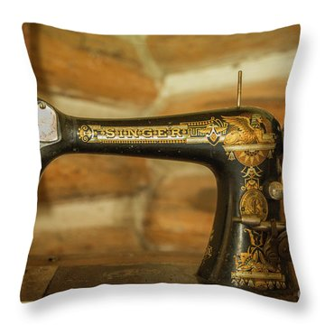 Classic Singer Human Interest Art By Kaylyn Franks Throw Pillow