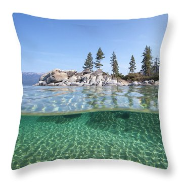 Classic Split By Dylan Silver Throw Pillow