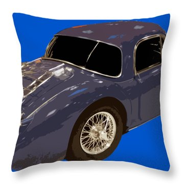 Classic Sports Blue Rear Throw Pillow