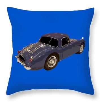 Classic Sports Blue Rear Throw Pillow