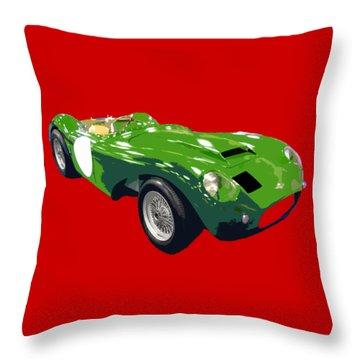 Classic Sports Green Art Throw Pillow