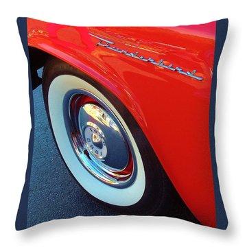 Classic T-bird Tire Throw Pillow