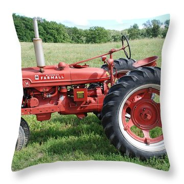 Classic Tractor Throw Pillow