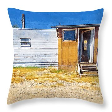 Throw Pillow featuring the photograph Classic Trailer by Susan Kinney