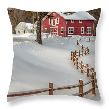 Classic Vermont Barn Throw Pillow