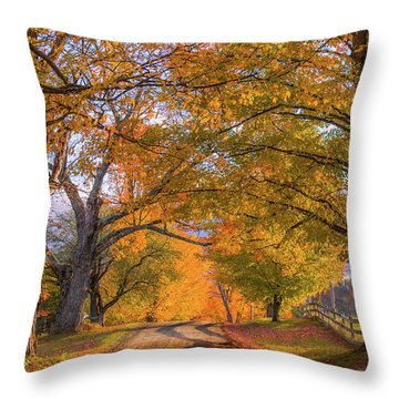 Classic Vermont Fall Throw Pillow
