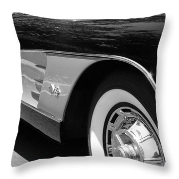 Classic Vette Throw Pillow by Jeff Lowe