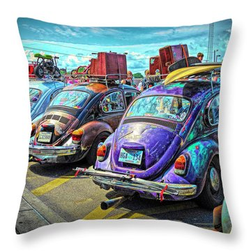 Classic Volkswagen Beetle - Old Vw Bug Throw Pillow