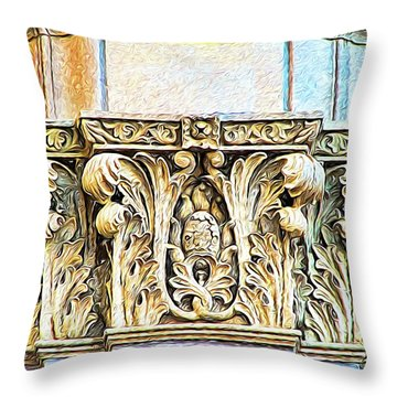 Throw Pillow featuring the digital art Classic by Wendy J St Christopher