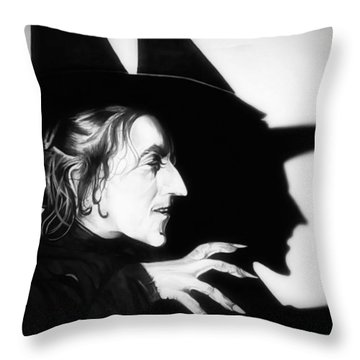 Classic Wicked Witch Of The West Throw Pillow