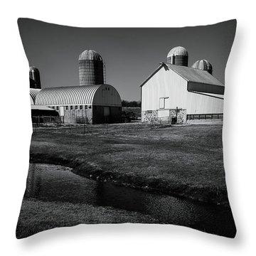 Classic Wisconsin Farm Throw Pillow
