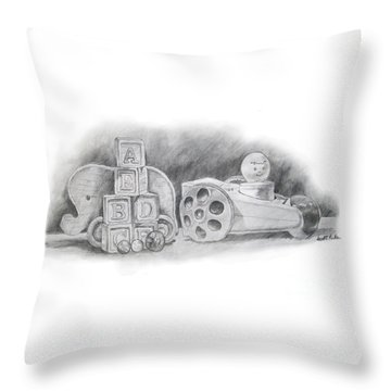 Classic Wooden Toys Throw Pillow