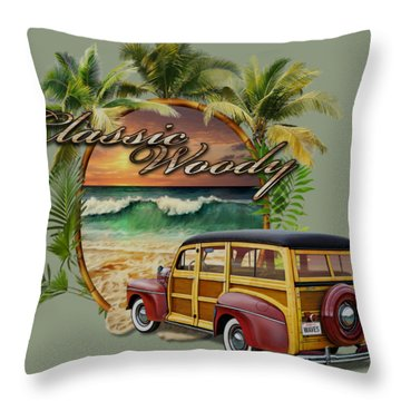 Classic Woody Throw Pillow