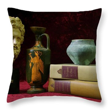 Classical Greece Throw Pillow