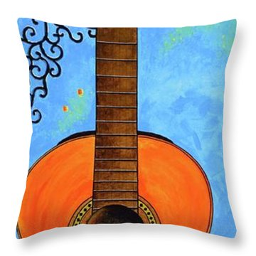 Throw Pillow featuring the painting Classical Music by Mary Scott