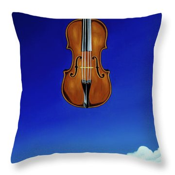 Classical Seascape Throw Pillow