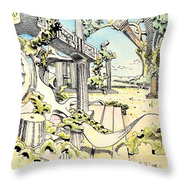 Classical Construction Throw Pillow