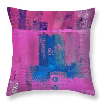 Throw Pillow featuring the digital art Classico - S0307d by Variance Collections