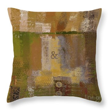 Throw Pillow featuring the digital art Classico - S0309b by Variance Collections