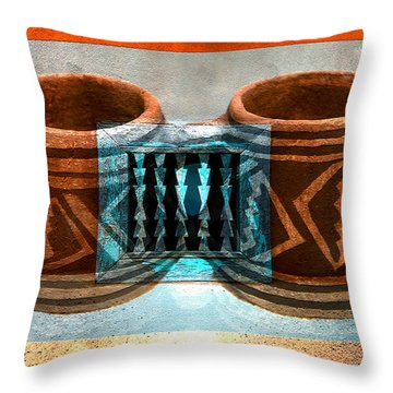 Throw Pillow featuring the digital art Classsic Designs Of The Southwest by David Lee Thompson