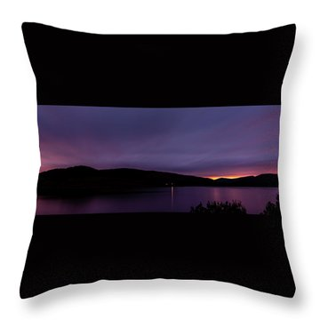 Clatteringshaws After Sunset. Throw Pillow