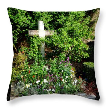 Claude Monet Grave In Giverny Throw Pillow by Olivier Le Queinec