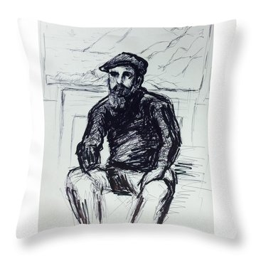 Claude Monet Throw Pillow