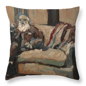 Claude Monet In His Studio Couch Throw Pillow by Nop Briex