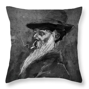 Throw Pillow featuring the digital art Claude Monet by Jim Vance