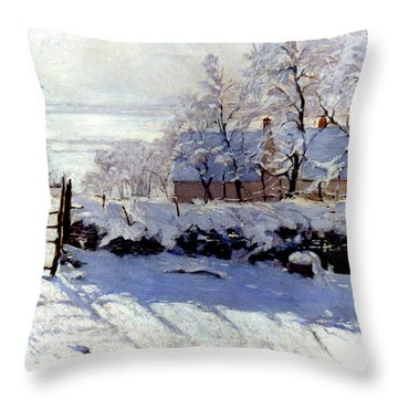Claude Monet: The Magpie Throw Pillow