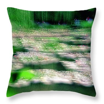 Throw Pillow featuring the photograph Claude Monets Water Garden Giverny 1 by Dubi Roman