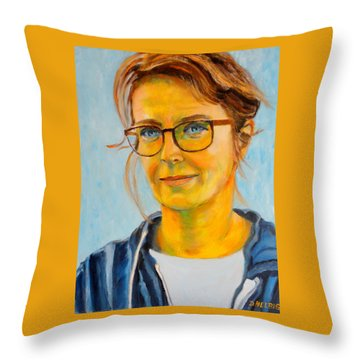 Claudia-portrait Throw Pillow