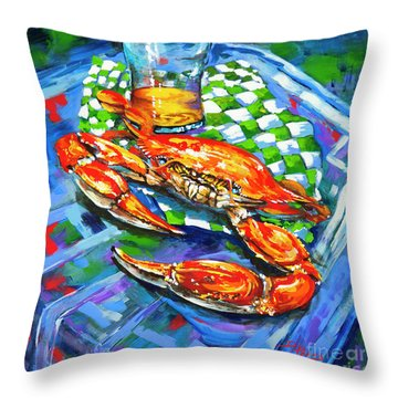 Claw Daddy Throw Pillow