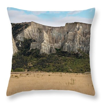 Throw Pillow featuring the photograph Clay Cliffs Omarama by Gary Eason