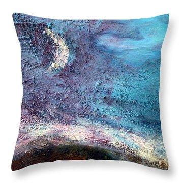 Clay Moon Throw Pillow