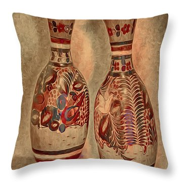 Clay  Pottery  ... Throw Pillow