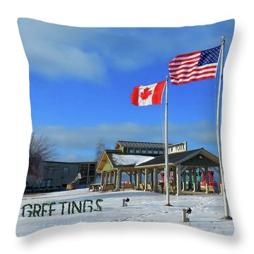 Clayton Seasons Greetings Throw Pillow