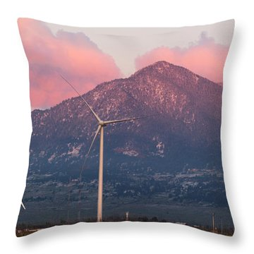 Throw Pillow featuring the photograph Clean Energy by Aaron Spong