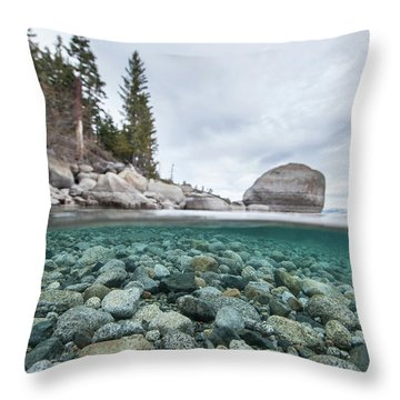 Clean Granite By Dylan Silver Throw Pillow