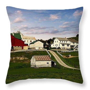 Clean Pastures Throw Pillow