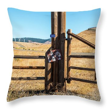 Clean Power And Old Ranch Gates Throw Pillow