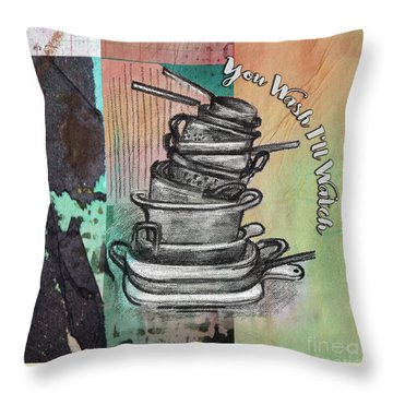 Clean Your Kitchen  Throw Pillow